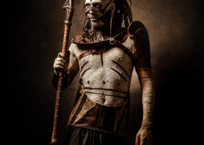 Maquillage bodypainting tribal - Photo Warped Galerie