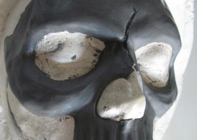 Sculpture masque mort