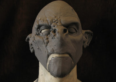 Sculpture masque orc